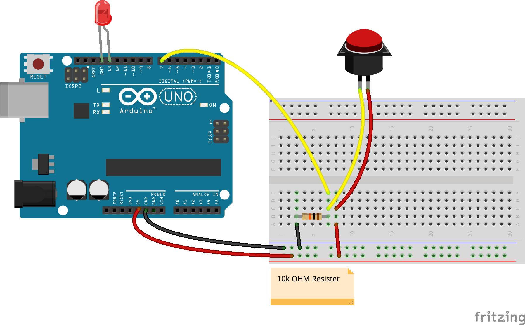 Javascript Arduino Bumper Switch Controlling A Led