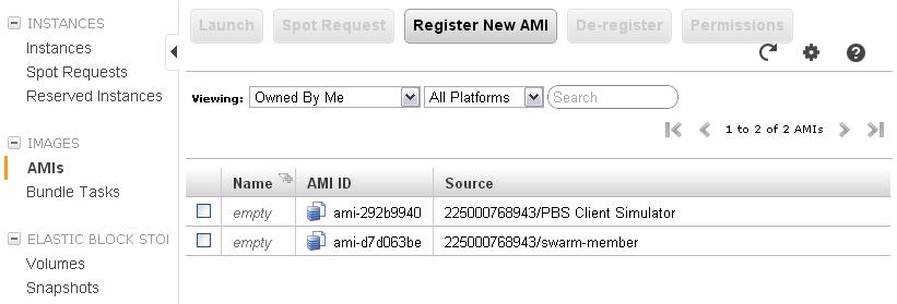 Listing of custom AMIs