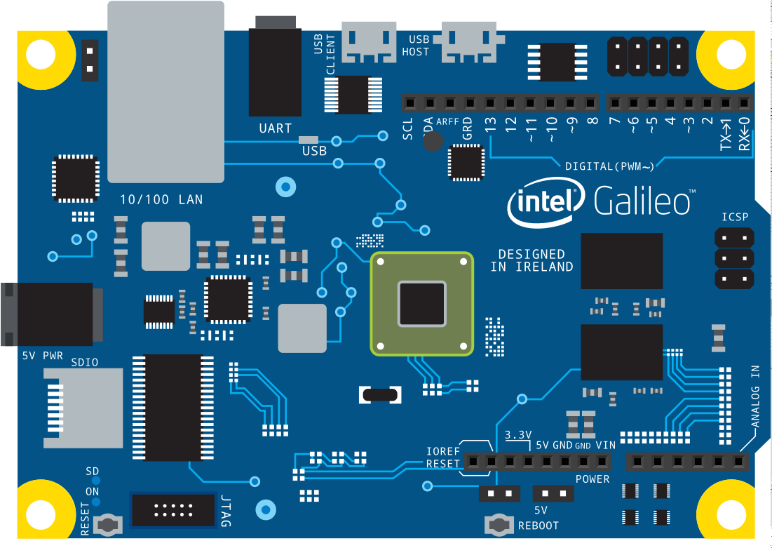 Intel Galileo Autonomous Navigation Rover With Javascript Wiring Diagram Power System