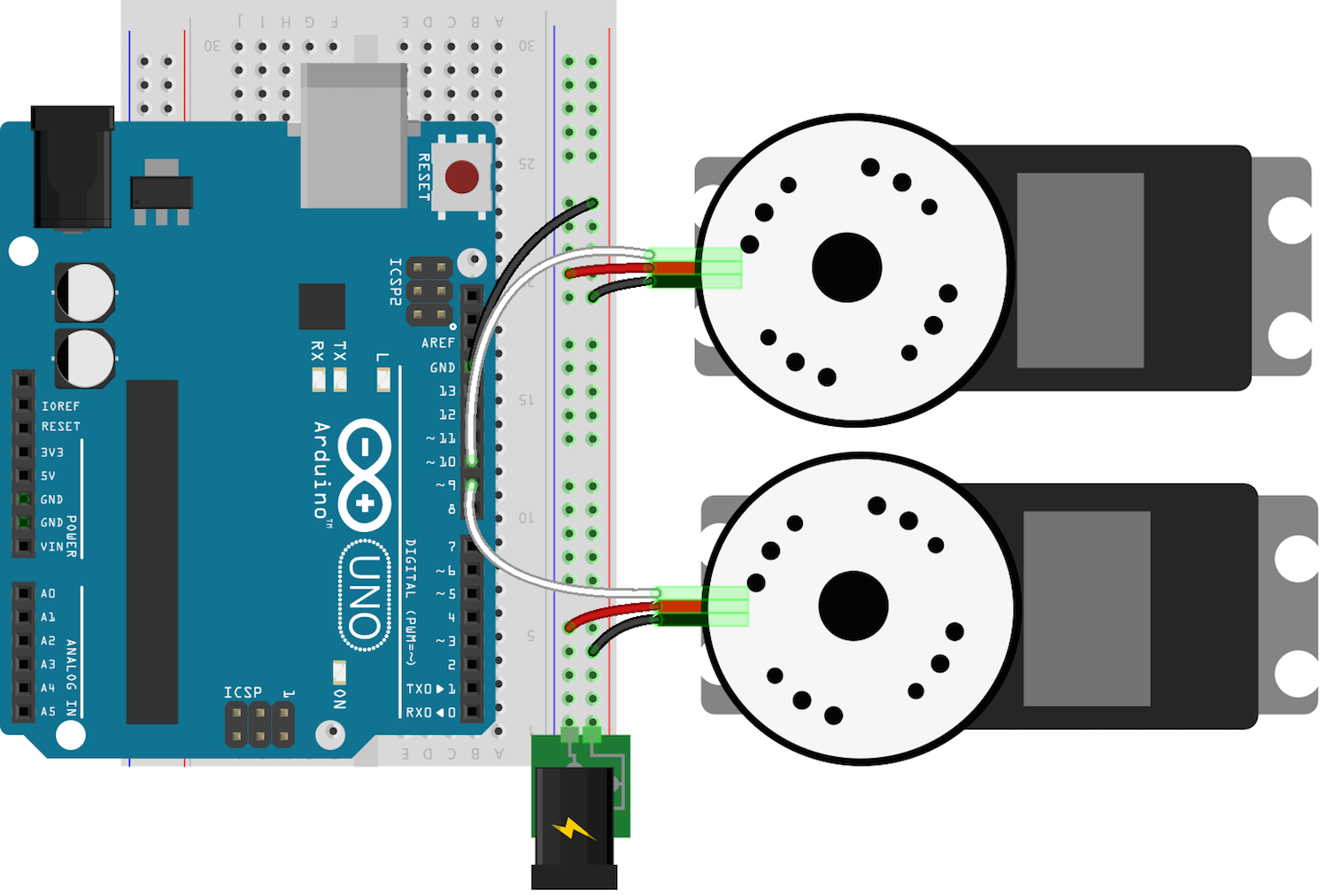 Controlling the robotsconf sumobot with arduino uno