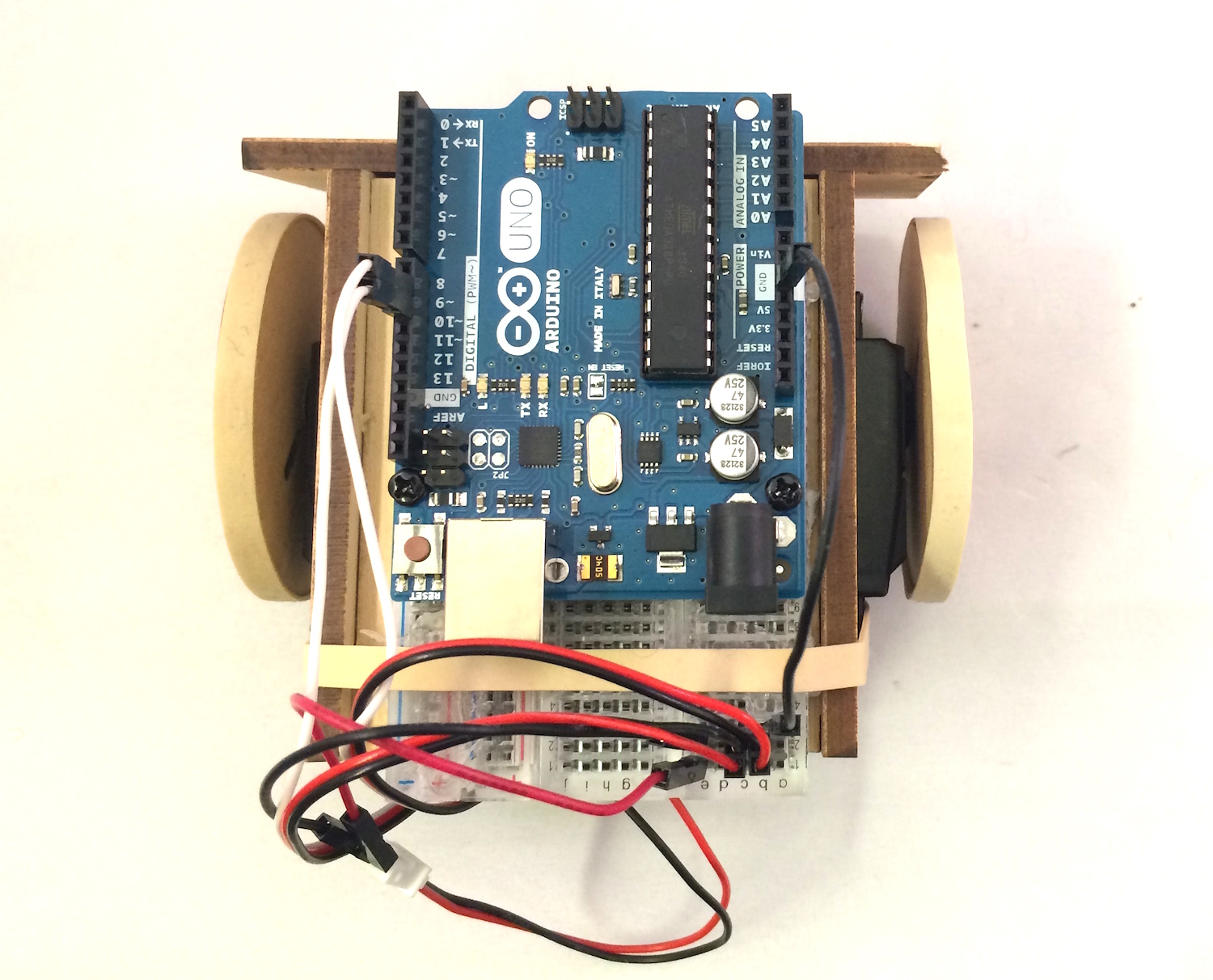 Arduino Uno SumoBot Assembled