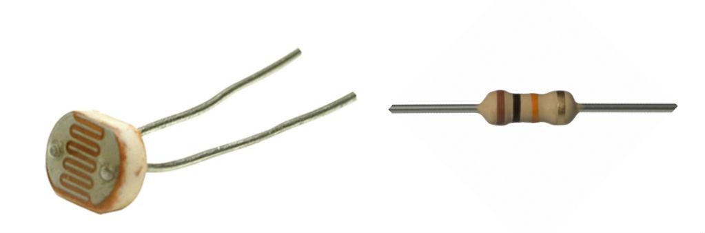 Photocell & 10kΩ resistor