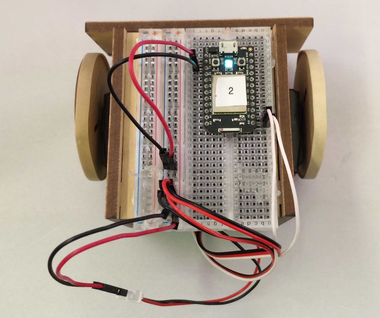 Spark Core SumoBot Assembled